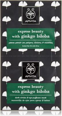 Mascarilla para el contorno de ojos, ojeras y signos de fatiga con Ginkgo Biloba