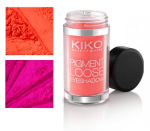 Nuevas sombras en pigmentos de Kiko
