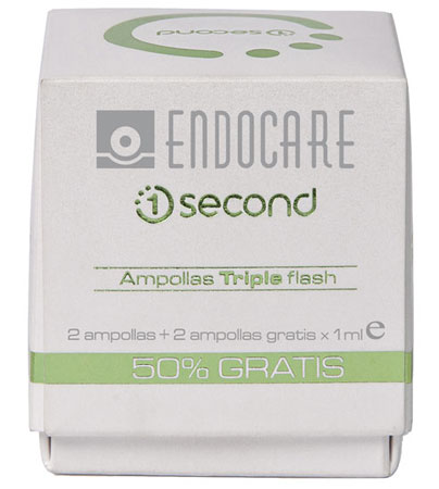 Endocare 1 second Triple Flash, ampollas para tus peores momentos