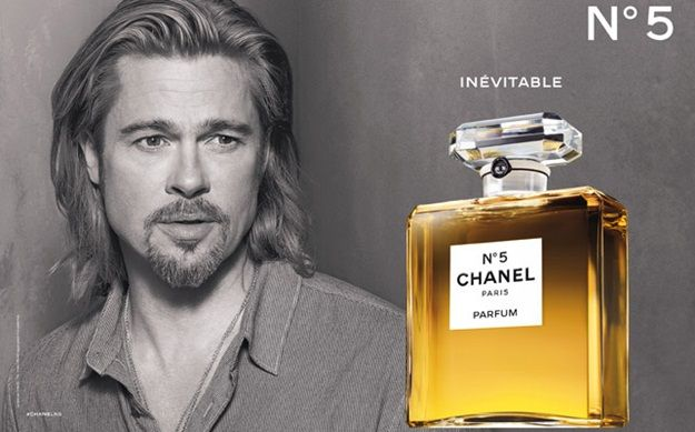 Brad Pitt muy sensual para Chanel  Nº 5