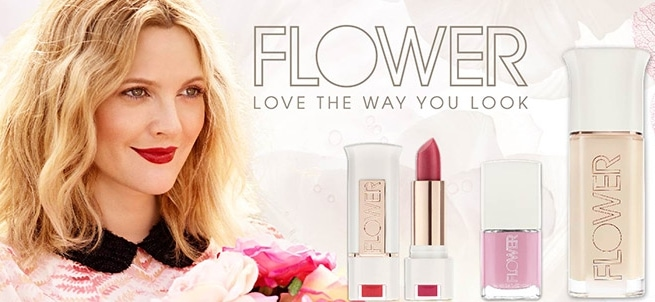 Drew Barrymore lanza Flower, nueva línea de maquillaje low cost