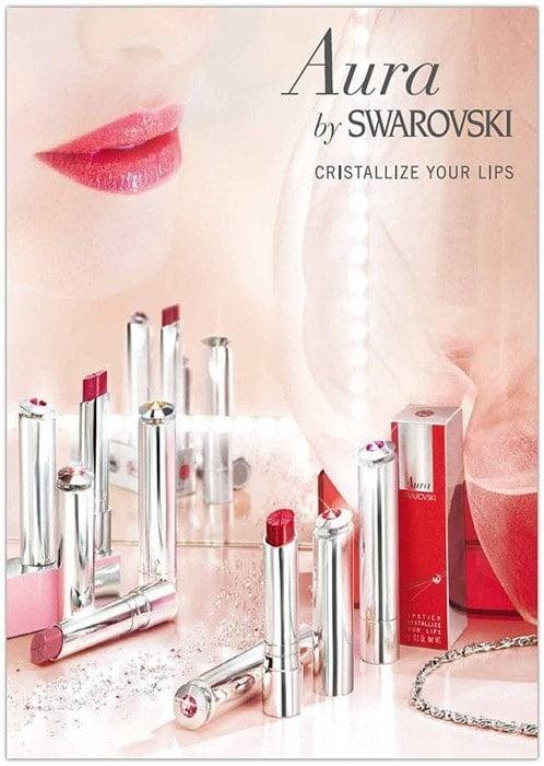 Swarovski lanza su nueva línea de labiales