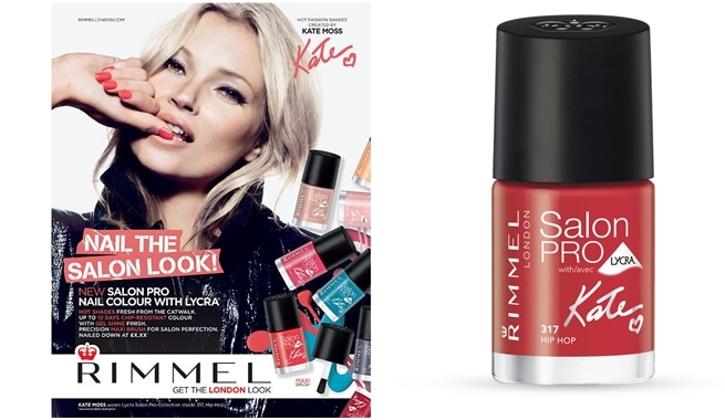 Salon Pro Nail Colour With Lycra, los nuevos esmaltes de Kate Moss para Rimmel London