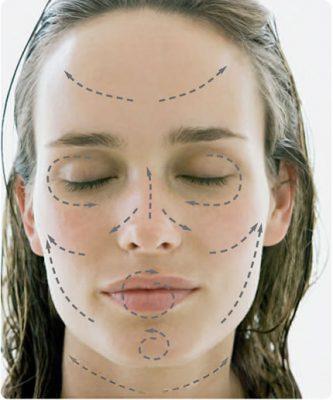 aplicar correctamente la crema facial