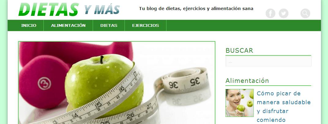 Inaguración de nueva web sobre dietas, nutrición y mucho más