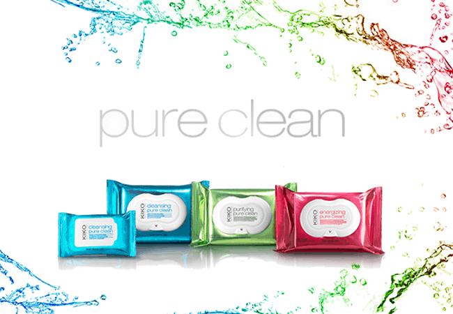Nuevas Pure Clean KIKO 1 Os presentamos la nueva gama de toallias desmaquillantes de Kiko