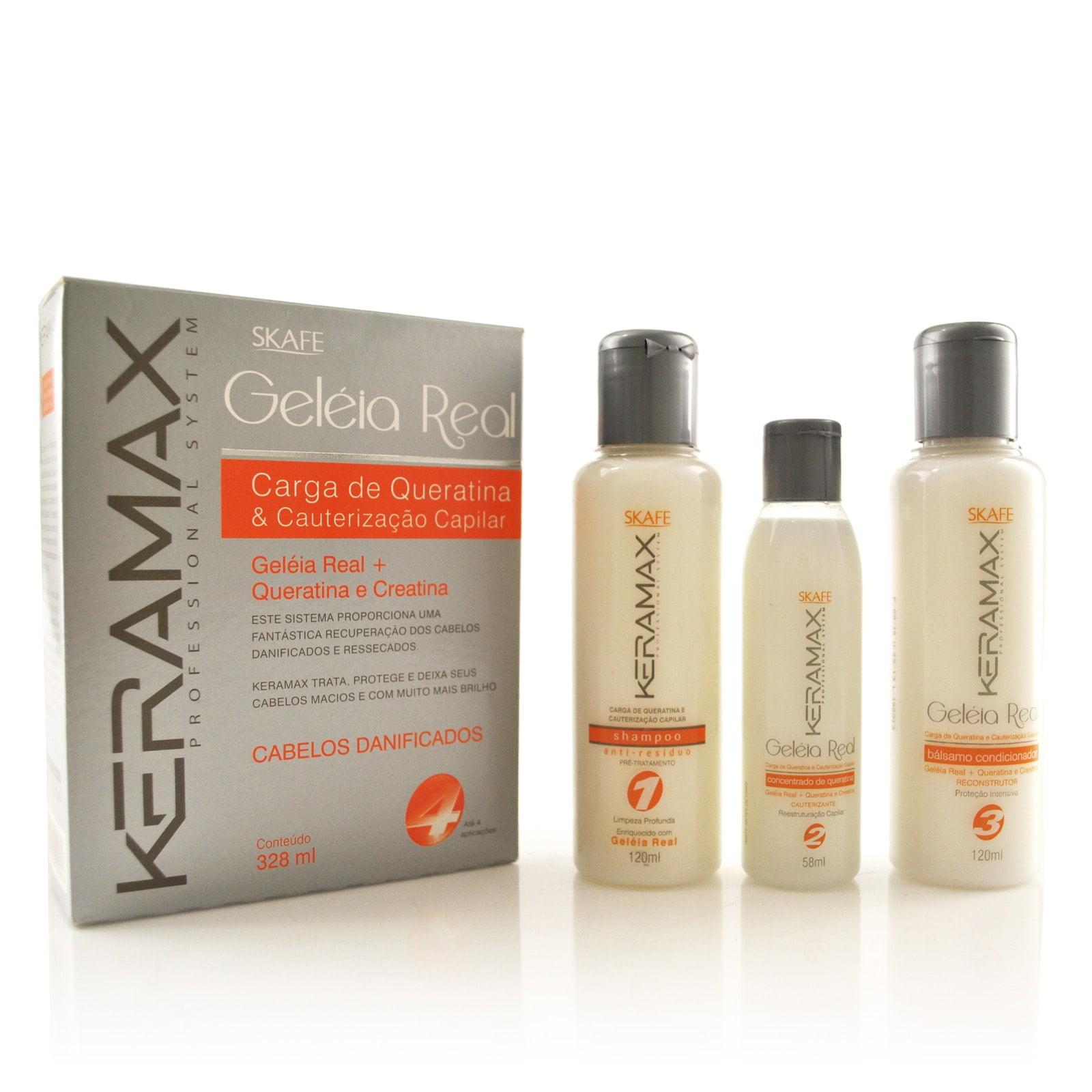 keramax geleia real carga de queratina e cauterização capilar
