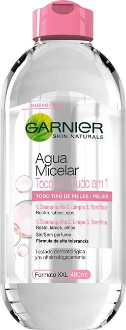 Nueva agua micelar todo en un uno de Garnier. Desmaquilla, limpia y tonifica