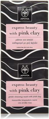 Apivita - Mascarilla limpiadora suave con arcilla rosa express beauty