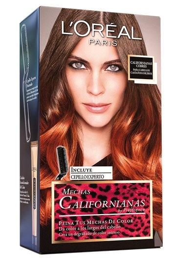 L'Oreal Paris Preference Mechas Californianas - Tinte, color castaños , 5 piezas, 200 gr