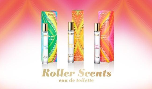 roller scents eau de toitlette kiko Kiko lanza nuevos perfumes en roll-on para el bolso