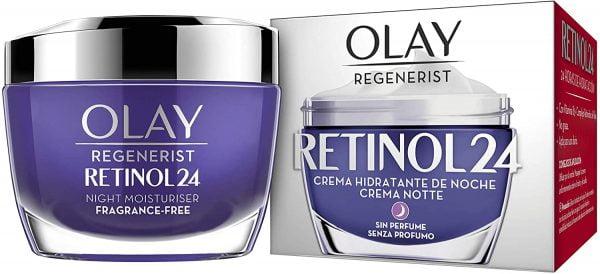 Olay Crema Hidratante de Noche sin Fragancia para Una Piel Suave y Radiante con Retinol y Vitamina B3