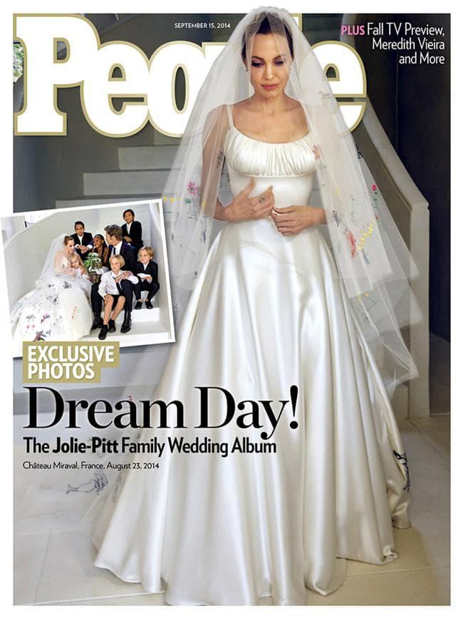 Primeras imágenes del vestido de novia de Angelina Jolie