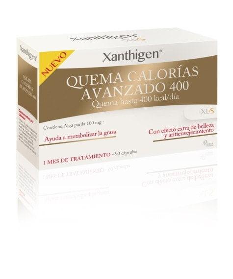 XL-S Medical Xanthigen Quema Calorías Avanzado 400, Quema 400 Kilocalorías al Día, Cápsulas Adelgazantes con Efecto Antioxidante