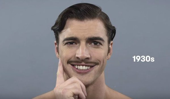 100 años de belleza masculina en sólo un minuto