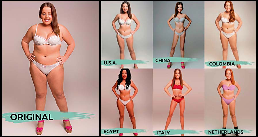 El ideal de belleza según el país