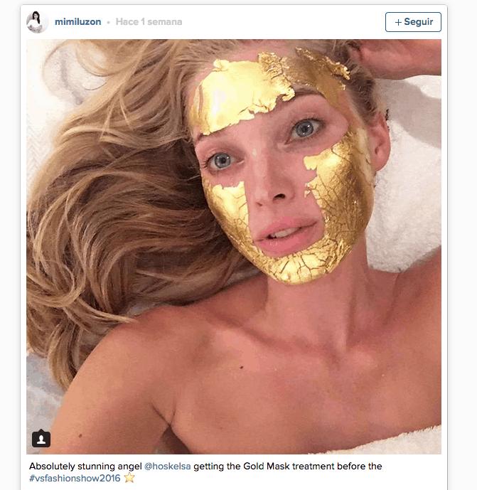 mascarilla facial oro